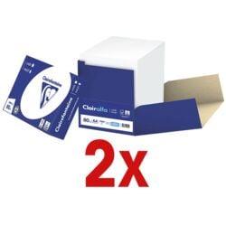 2x Boîte-éco de papier imprimante multifonction A4 Clairefontaine 2800 - 5000 feuilles au total