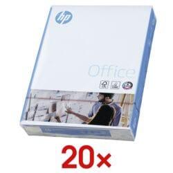 20x Papier photocopieur A4 HP Office - 10000 feuilles au total, 80g/m²