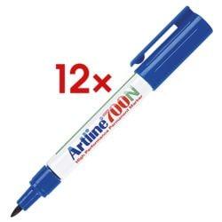 12x Artline marqueur indélébile 700N - pointe ogive, Epaisseur de trait 0,7 mm (F)