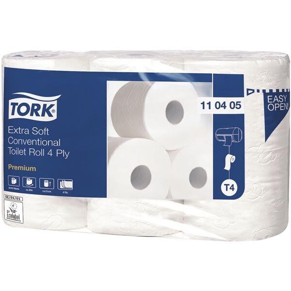 Tork papier toilette 4 épaisseurs, blanc - 6 rouleaux (1 paquet de 6 rouleaux)