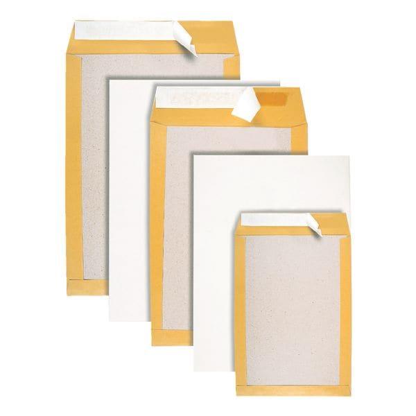 BONG 100 pochettes d'expédition avec dos en carton, C5 90 g/m² sans fenêtre