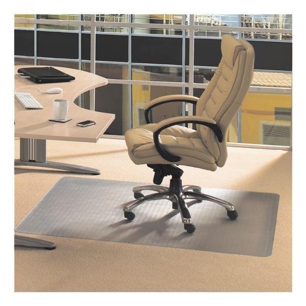 plaque protège-sol pour moquettes, vinyle, rectangulaire 90 x 120 cm, Floortex Plaque protège-sol vinyl