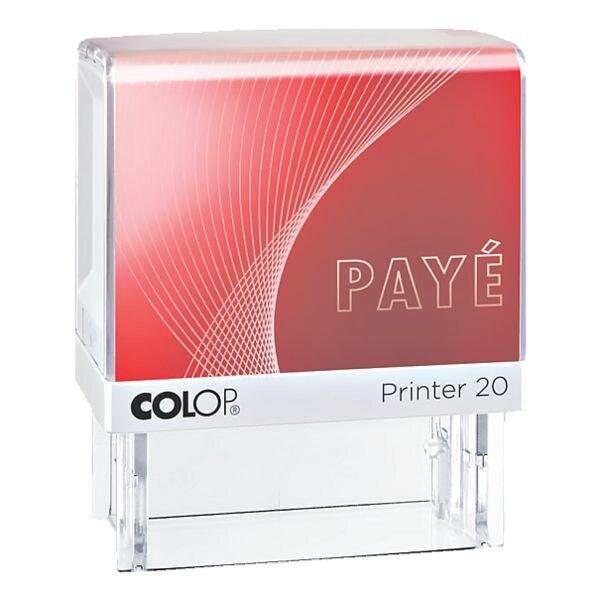 Colop Tampon à texte auto-encreur « Printer 20/L Payé »