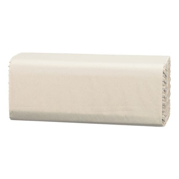 Essuie-mains en papier Satino comfort 2 épaisseurs, blanc nature, 25 cm x 33 cm de Papier recyclé avec pliage en C - 3072 feuilles au total