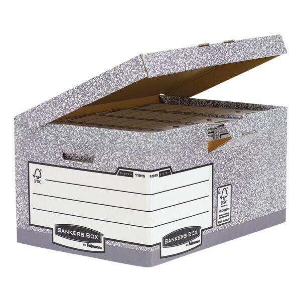 Bankers Box System Cartons à couvercle rabattable - 10 pièces