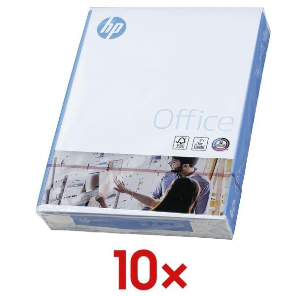 10x Papier multifonction A4 HP Office - 5000 feuilles au total, 80g/m²