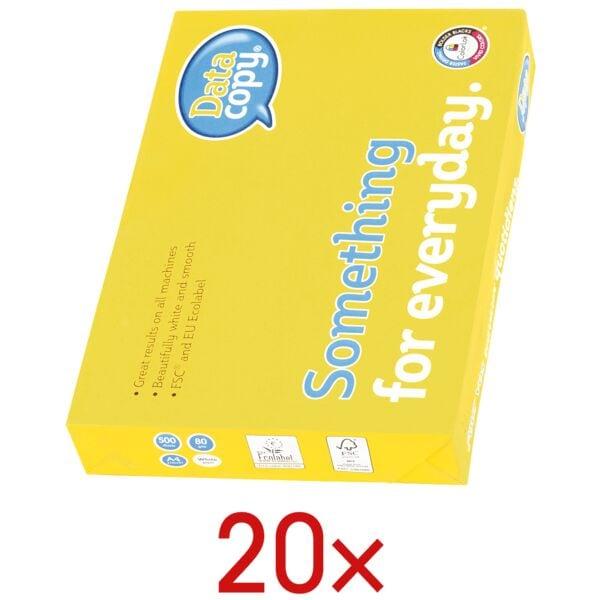 20x Papier imprimante multifonction A4 Data-Copy Everyday Printing - 10000 feuilles au total, 80 g/m²
