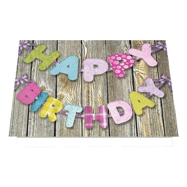 carte de vœux LUMA KARTENEDITION Happy Birthday, format spécial, avec enveloppe, 6 pièce(s)