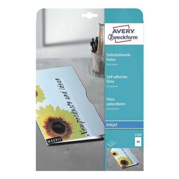 Avery Zweckform Films transparents autocollants 10 pièces
