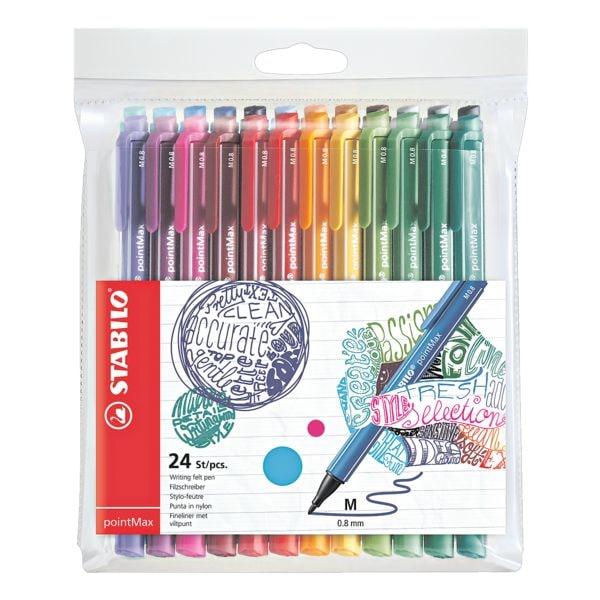 STABILO lot stylo feutre pointMax, 0,8mm
