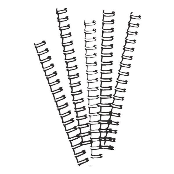 Ibico Baguettes de reliure en métal - 21 anneaux / 8 mm