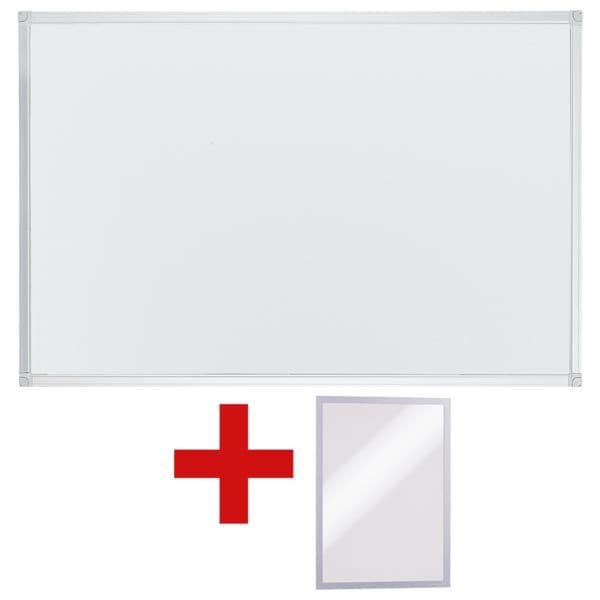 OTTO Office Tableau blanc, 90x60 cm avec Cadre d'affichage aimanté « Duraframe A5 »