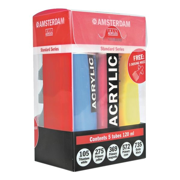 AMSTERDAM Lot peinture acrylique « Standard Series »