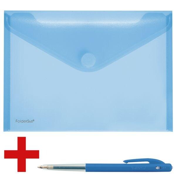 Foldersys Pochette porte-documents A5 paysage 100 feuilles avec stylo-bille rétractables « M10 »