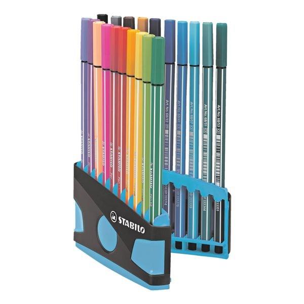 STABILO Paquet de 20 stylos feutres « Pen 68 ColorParade »