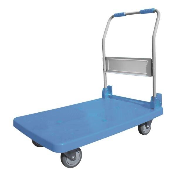 Viso Chariot à dossier rabattable avec 150 kg de capacité de charge et barre de poussée