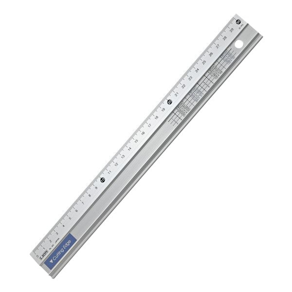 Hansa Règle de découpe - aluminium (30 cm)