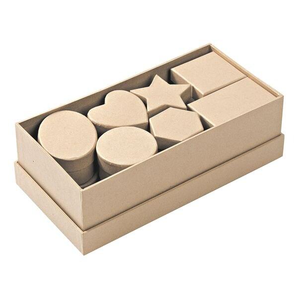 folia Paquet de 6 boîtes en carton de 15 pièces, couleur nature