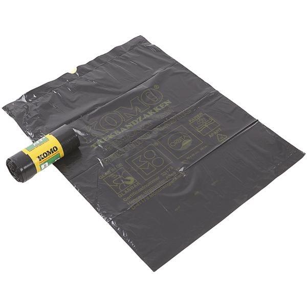 KOMO sacs poubelle avec lien coulissant 60 L gris foncé - 15 pièce(s)