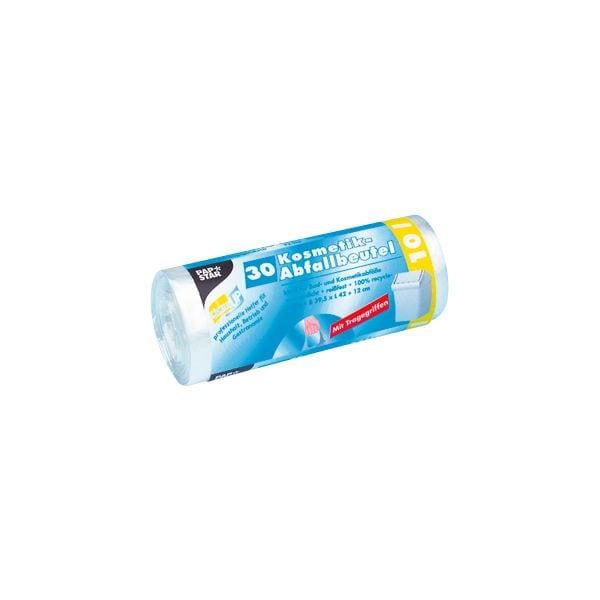 Papstar sacs poubelle avec poignée 10 L transparent - 30 pièce(s)