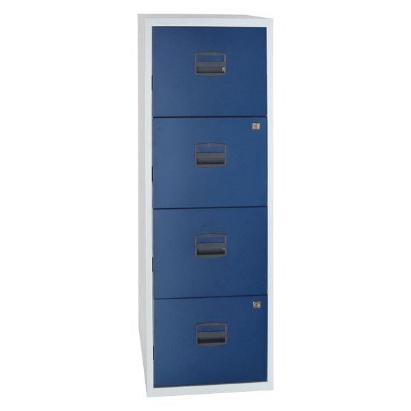 Bisley armoire à dossiers suspendus A4, 1 rangée, 4 tiroirs