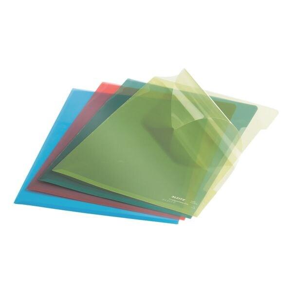 LEITZ 100 chemises transparentes couleur « Premium 4153 » (4 couleurs)