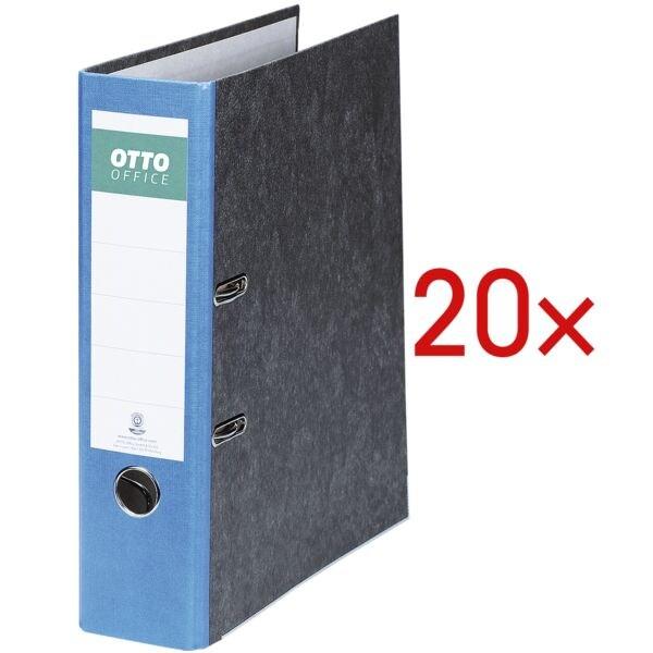 20x Classeur A4 OTTO Office Nature Future large, papier marbré nuages avec dos coloré