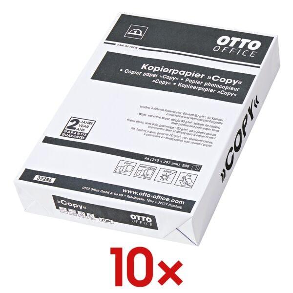 10x Papier photocopieur A4 OTTO Office Budget COPY - 5000 feuilles au total, 80g/m²