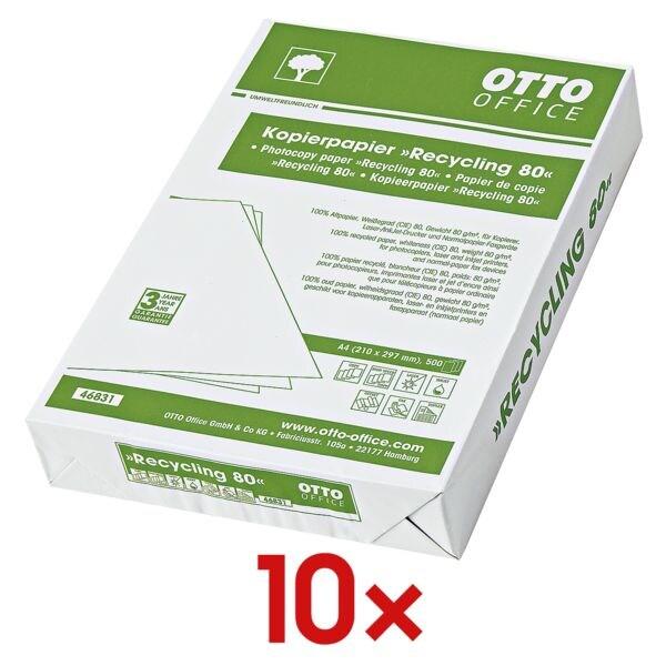 10x Papier recyclé A4 OTTO Office Nature recyclé - 5000 feuilles au total