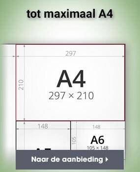 tot maximaal A4