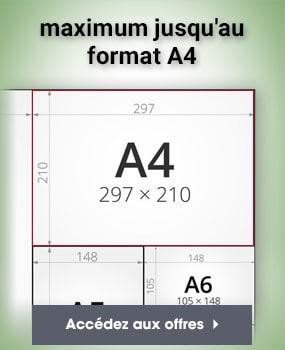 maximum jusqu au format A4