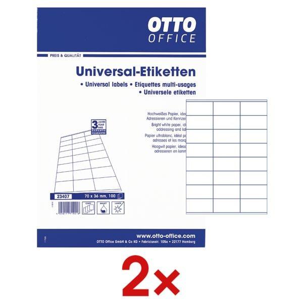 2x 2400er-Pack Universal Klebeetiketten bei Office Discount - Bürobedarf