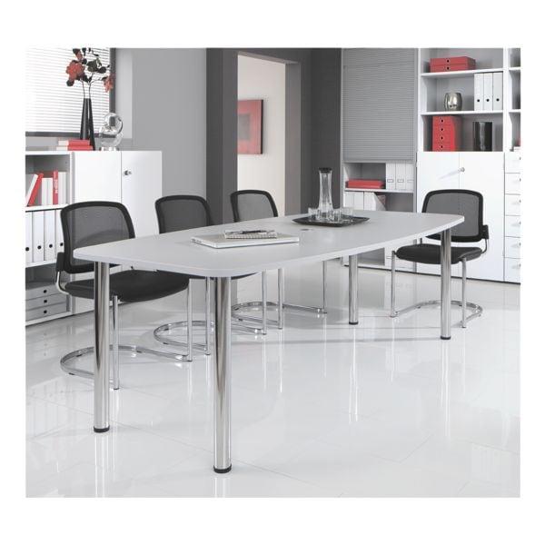 Konferenztisch »Chicago« bis 8 Personen in Tonnenform mit Tischbeinen | Büro > Bürotische > Konferenztische | HAMMERBACHER
