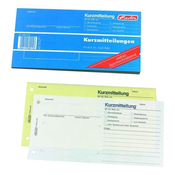 Formularbuch »Kurzmitteilung«
