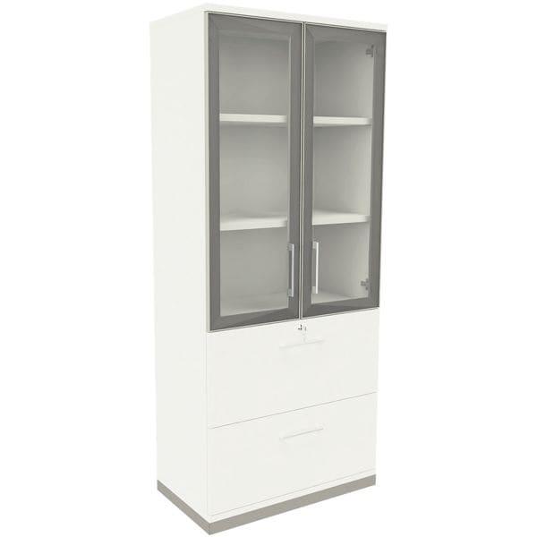 Kombischrank »Oldenburg« 5 OH 2 Hängeregister 2 Acrylglastüren | Flur & Diele > Mehrzweckschränke | fm Büromöbel