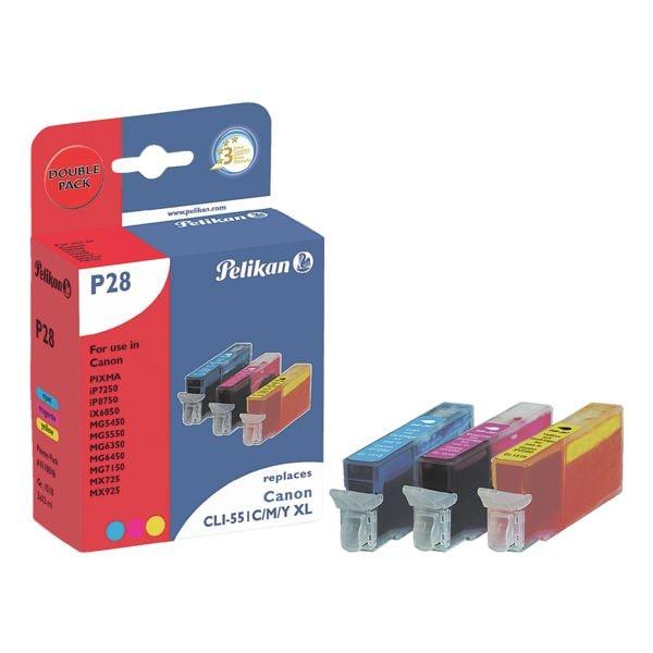 Tintenpatronen-Set ersetzt Canon »CLI-551XL C/M/Y«