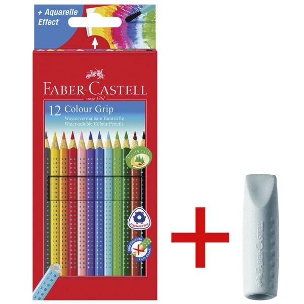 12er-Pack Buntstifte »Colour-GRIP« inkl. 2er-Pack Radiergummi  bei Office Discount - Bürobedarf