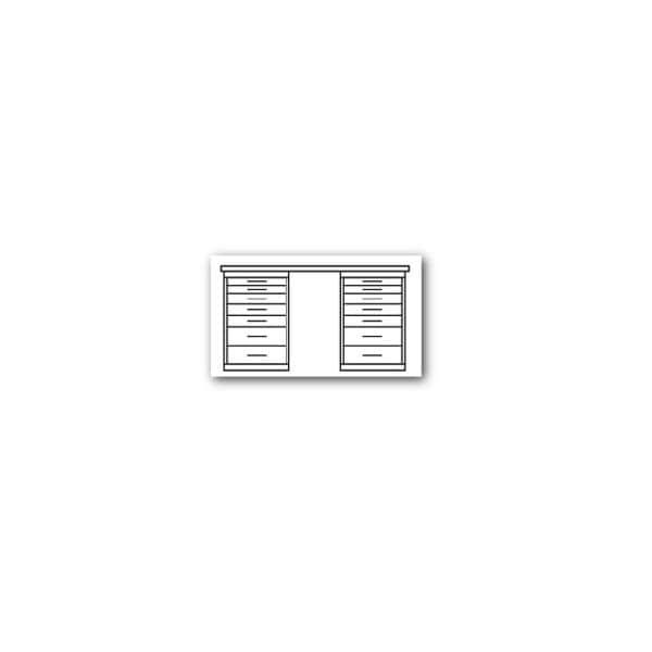 Werkbank mit 2 Schränken | Baumarkt > Werkbank | Cp