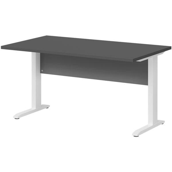Schreibtisch »Planeo white« 140 cm C-Fuß bei Office Discount - Bürobedarf