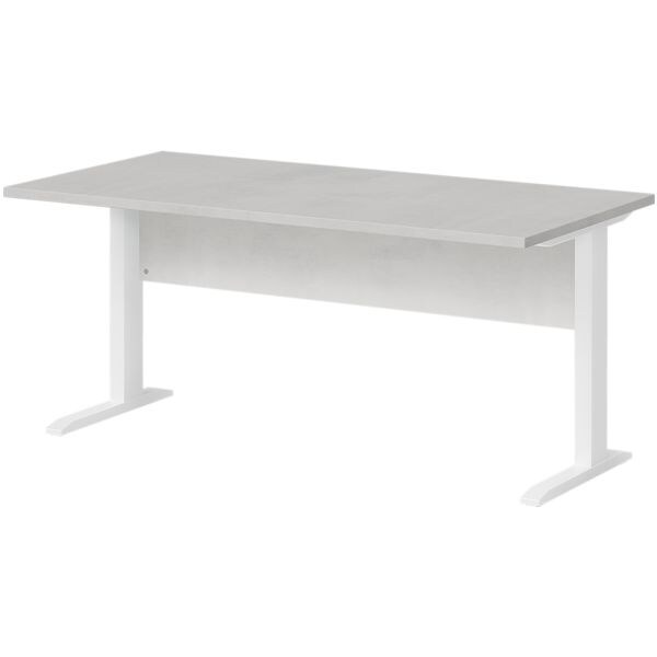 Schreibtisch »Planeo white« 160 cm C-Fuß bei Office Discount - Bürobedarf