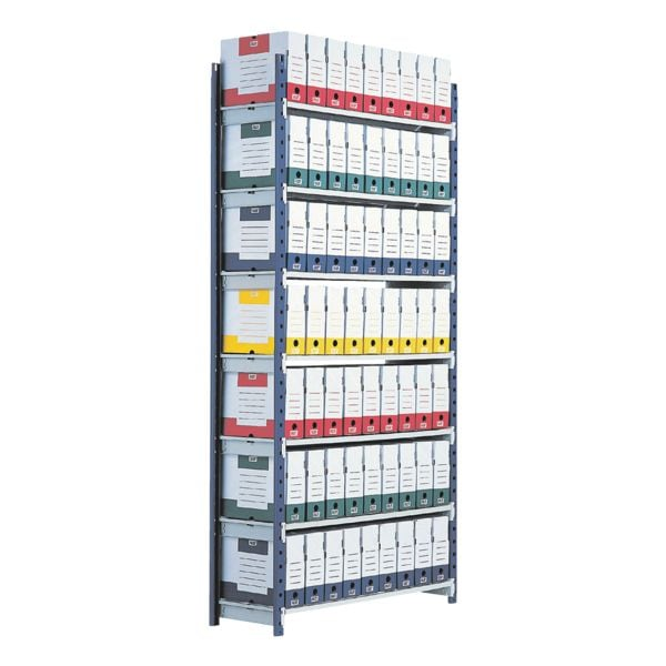 Steckregalsystem »Rang'Eco« Grundregal 7 Böden | Büro > Büroregale > Regalsysteme | Stahl | Paperflow