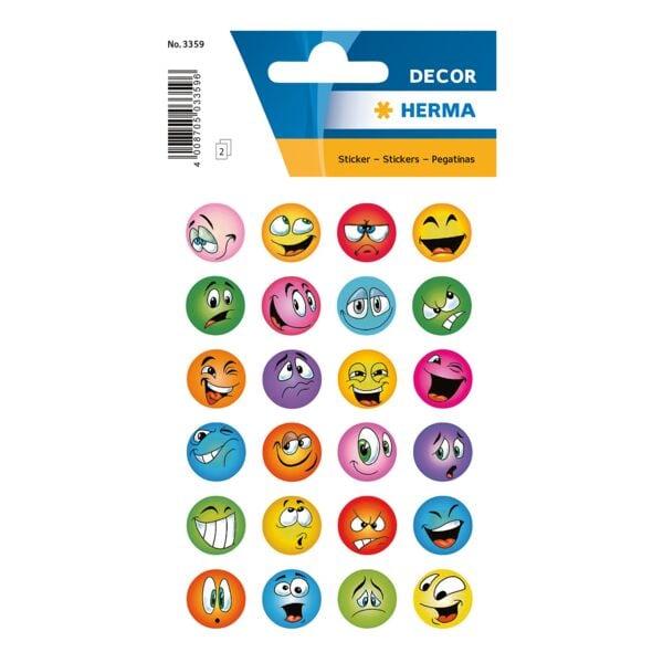Sticker »DECOR«, lustige Gesichter