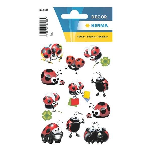 Sticker »DECOR«, lustige Marienkäfer