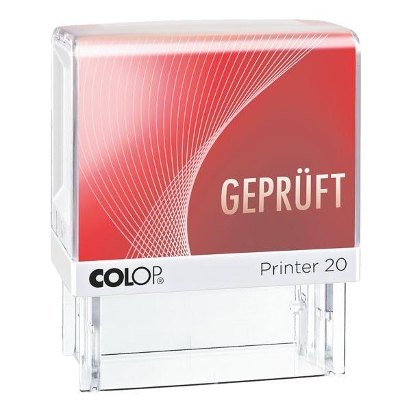 Textstempel »Printer 20/L Geprüft«