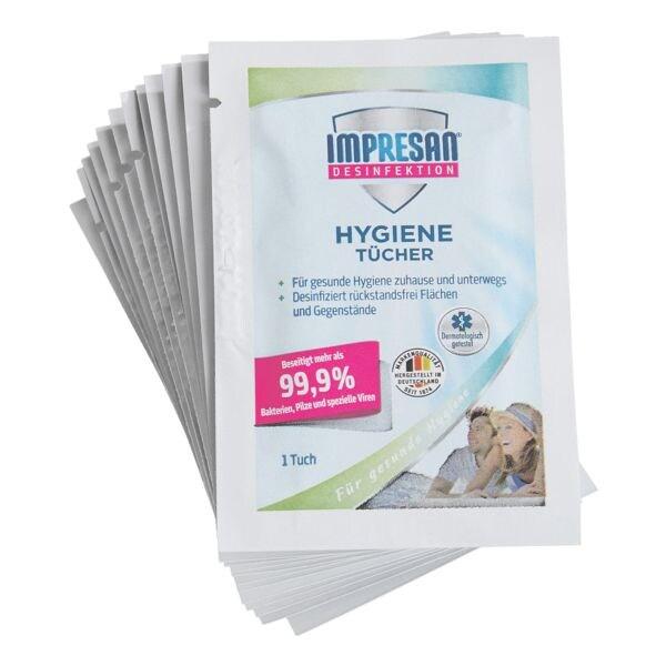 Feuchte Hygienetücher