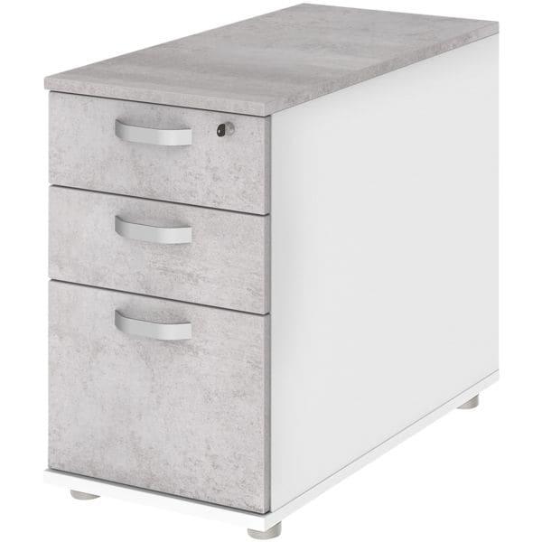 Standcontainer »start.now« mit Hängeregisterauszug   Büro > Büroschränke > Container   Weiß   Abs   röhr