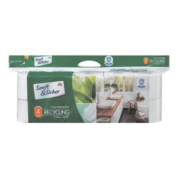 Toilettenpapier »Recycling« 4-lagig - 10 Rollen