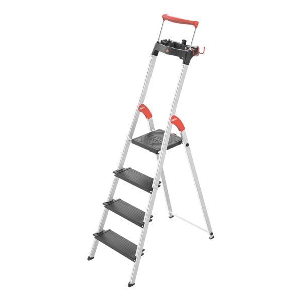 Alu-Stehleiter »L100 TopLine« 4 Stufen | Baumarkt > Leitern und Treppen > Stehleiter | Hailo