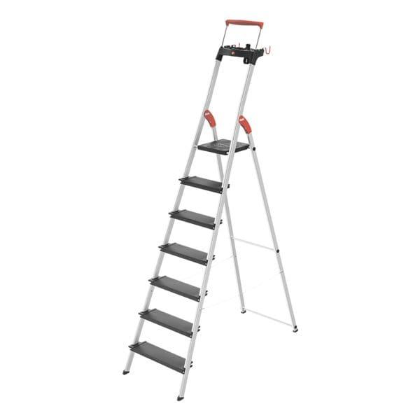Alu-Stehleiter »L100 TopLine« 7 Stufen | Baumarkt > Leitern und Treppen > Stehleiter | Hailo