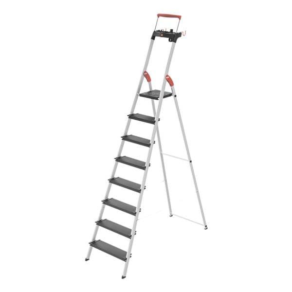 Alu-Stehleiter »L100 TopLine« 8 Stufen | Baumarkt > Leitern und Treppen > Stehleiter | Hailo